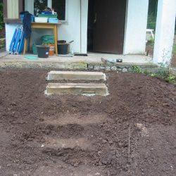 die ersten beiden Treppenstufen sind gesetzt